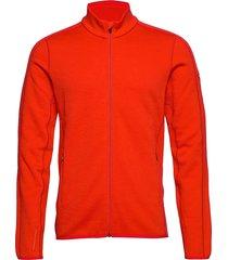 mens elemental ls zip sweat-shirts & hoodies fleeces & midlayers röd icebreaker