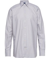 soft brown & blue checked lightweight twill shirt overhemd business multi/patroon eton