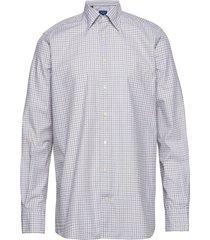 soft brown & blue checked lightweight twill shirt overhemd business multi/patroon eton