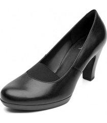 zapato mujer mitzy negroliso flexi