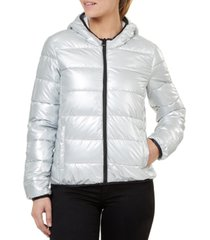 numero quilted hooded packable jacket