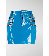 unravel project zip-pocket mini skirt