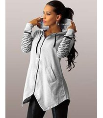 women's fashion letters print sport hoodie sweatshirts coat