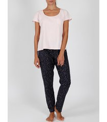 pyjama's / nachthemden admas pyjama broek t-shirt loungewear shine stars roze