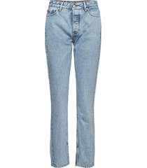 classic denim slimmade jeans blå ganni