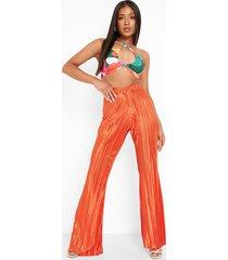 petite plisse broek met v-taille, orange