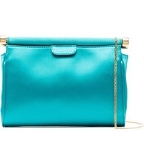 alberta ferretti sequin-embellished crossbody bag - blue