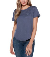 belle by belldini pocket top with back zipper