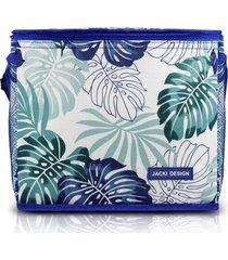 bolsa térmica jacki design tropicália azul