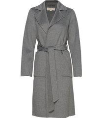 db wool belted coat wollen jas lange jas grijs michael kors