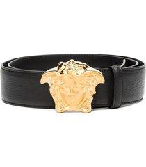 versace palazzo medusa head belt - black
