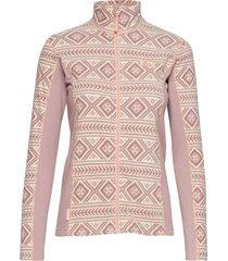 flette fleece sweat-shirt tröja rosa kari traa