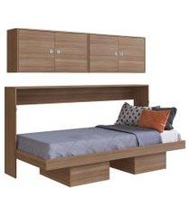 cama articulável horizontal solteiro c/ aéreos latino montana artinmóveis marrom