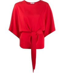 p.a.r.o.s.h. belted crew neck t-shirt - red