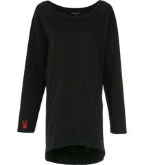 gloria coelho long sweatshirt - black