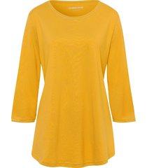 shirt van 100% katoen met 3/4-mouwen van green cotton geel