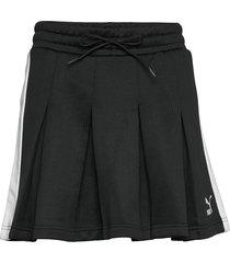 classics t7 pleated skirt kort kjol svart puma