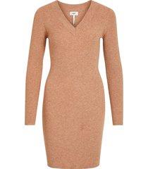 klänning objfae thess l/s rib knit dress