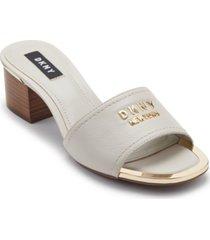 dkny fama logo dress sandals