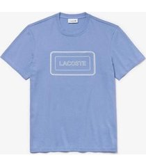 camiseta lacoste regular fit masculina - masculino