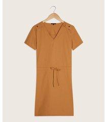 vestido manga corta escote v
