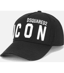 dsquared2 men's d2 icon baseball cap - black/white