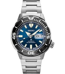 seiko men's automatic prospex diver stainless steel bracelet watch 42.4mm