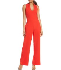women's vince camuto u-neck sleeveless kors crepe jumpsuit