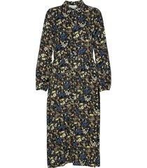 dhlivia dress jurk knielengte multi/patroon denim hunter