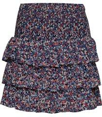 daintly blm tier skrt kort kjol multi/mönstrad michael kors