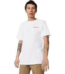 converse camiseta de manga corta groovy white