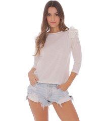 camiseta con bolero en mangas para mujer 100610-00
