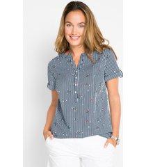 blouse, korte mouw