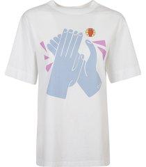 chloé clapping hand print t-shirt