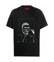 424 camiseta decote careca de algodão - preto