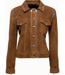 diesel giacca t-thali in pelle scamosciata