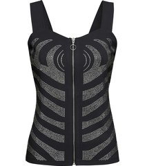 top con strass (nero) - bodyflirt boutique