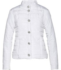giacca trapuntata con bottoni di strass (bianco) - bpc selection