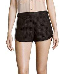 textured zipped shorts