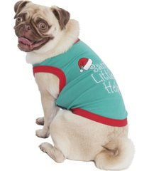 parisian pet santa's little helper dog t-shirt