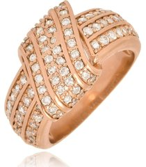 anel monica di capri semi jóias x ouro rose
