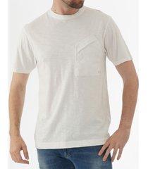c.p company malfile jersey contrast pocket t-shirt - white ts223a005433o103