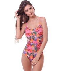 maiô simony lingerie cavado com bojo luna beach rosa