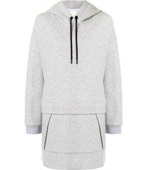3.1 phillip lim oversized longline hoodie - grey