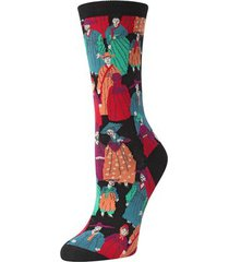 natori dynasty socks, women's, black, cotton natori