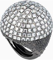 anello cocktail celestial fit, grigio, rutenio nero