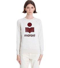 isabel marant étoile milly sweatshirt in beige cotton