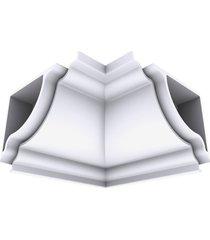 cantoneira rodaforro interna pvc plasbil premium, branca - 4 peças
