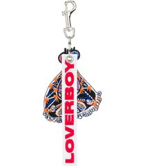 charles jeffrey loverboy embroidered charm keyring - purple
