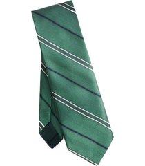 corbata twill stripe silk verde brooks brothers